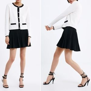 ZARA BANDAGE KNIT CARDIGAN WITH PEARL BUTTONS